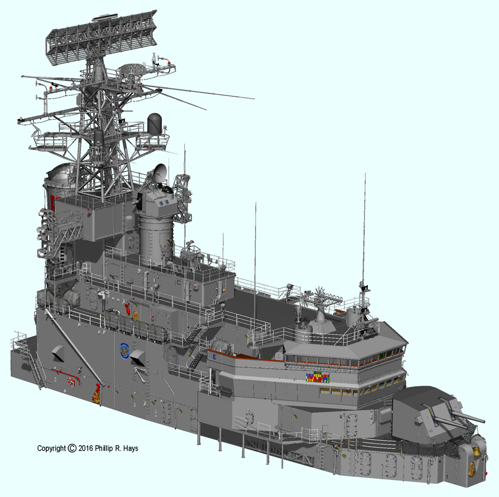 Superstructure: USS Oklahoma City CAD Model Superstructure