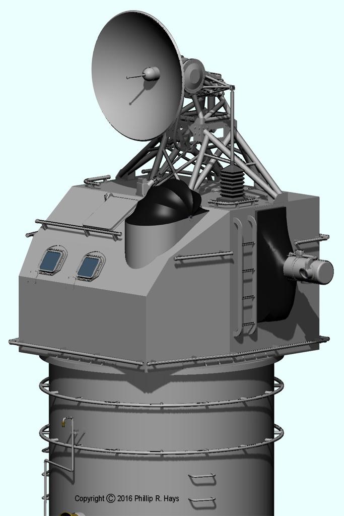 Uss Oklahoma City Cad Model Radars And Directors