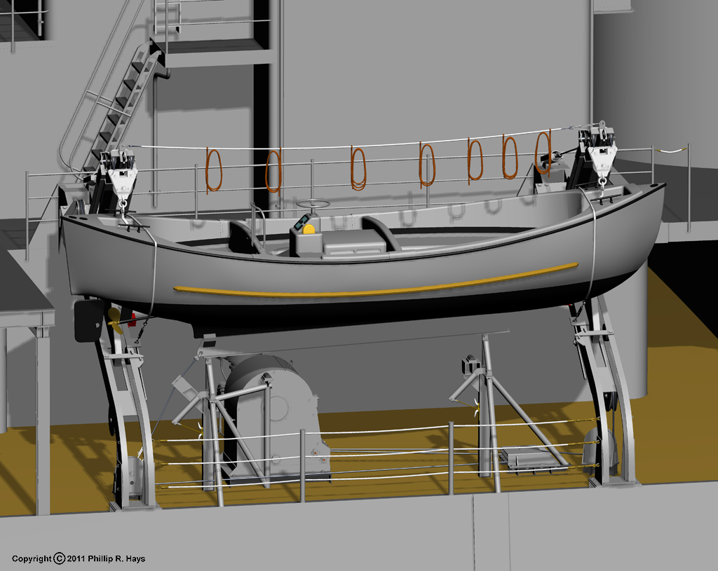 Uss Oklahoma City Cad Model Miscellaneous Features