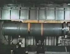 Booster on magazine crane